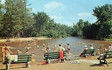 IVERSON PARK, STEVENS POINT WISCONSIN,  SWIMMING BEACH, EARLY 60'S,