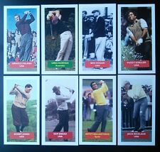 Golf : All 8 golfers from Score UK trade card set NICKLAUS JONES PALMER SNEAD