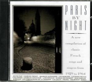 VARIOUS ARTISTS - PARIS BY NIGHT - VARIOUS ARTISTS CD