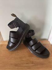 Dr Martens Clarissa II Quad Flatform Sandals in Smooth Black Leather - WORN ONCE