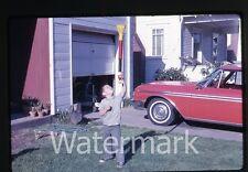1960s  Photo slide Ford Galaxie Car automobile  Boy Bazooka Ball Toy