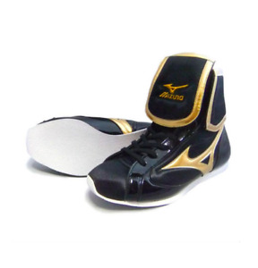 Mizuno Boxing Ring shoes Black × Gold Made in JAPAN Free shipping BTO Brand NEW