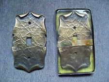 Pre 1990 Amerock Hardware Carriage House Antique Brass Wall Plates