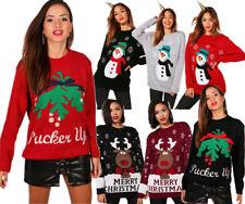 Ladies Unisex Mens Novelty Retro Snowflakes Reindeer Christmas Xmas Jumpers Size