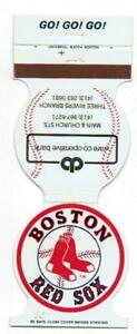 BOSTON RED SOX ~ 1981 Schedule Match Book ~ FREE SHIPPING