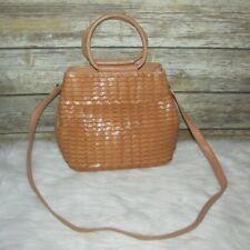 Vntg Fossil 1954 Natural Beige Woven Leather Purse Shoulder Bag Crossbody