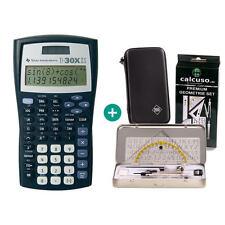 TI 30 X II S Taschenrechner + Schutztasche und GeometrieSet