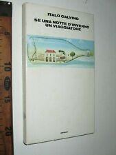 ITALO CALVINO SE UNA NOTTE D'INVERNO UN VIAGGIATORE 1979 ROMANZO EINAUDI sc206