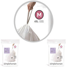 Pack of 20 Bin Liner Code M (45L) Code CW0173 Simple Human Double Seams Extra St