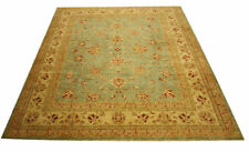 Real Rug Brick Manufacture 324x269 CM 100% Wool Hand Knotted Blue-Green