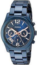 Fossil  Women's Perfect Boyfriend Blue Stainless Bracelet Watch 39mm ES4093