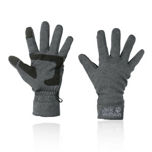 Jack Wolfskin Mens Skyland Gloves Grey Sports Outdoors Warm Windproof Breathable