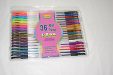 Set of 36 Gel Pens with Carrying Case Neon, Glitter, Metellic, Pastel, Tradition