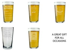 Personalised Pint Glass Choose Design For All Occasions #1