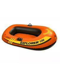 Intex Explorer 100 1 Person Youth Pool Lake Inflatable Raft Row Boat Canoe Pool