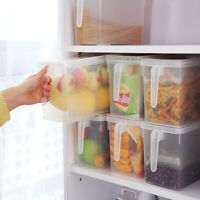 Storage Collecting Box Basket Kitchen Refrigerator Fruit Food Organiser Utility