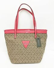 NEW-GUESS TANSY MOCHA,CORAL,SALMON SHINY LEATHERETE SHOULDER HAND BAG,PURSE,TOTE