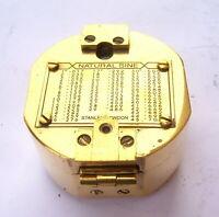 "Antique Vintage 3"" Brass Nautical Brunton Compass"