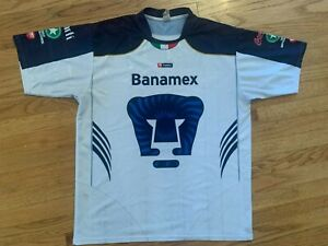 Vintage Pumas De La UNAM Authentic Soccer Jersey L/XL Club Universidad Nacional