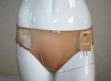SLIP BRASILIANO CHANTELLE ICONE CARAMEL SATIN & MESH Tg. XL BRAZILIAN BRIEF