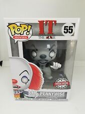 DAMAGED BOX - Funko POP ! Movie IT Pennywise - 55 - Horror -Black and White