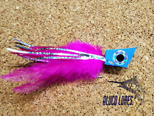 Pack of 3 Blue/Pink and Silver NYAP Popper - choose size - 4/0 or 6/0 SL12