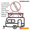 2 x New Gas Struts Caravan hatch boot awning 322mm long x 50N Matches 5025DT