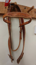 Western Belt Style Bridle in Brown - Horse size