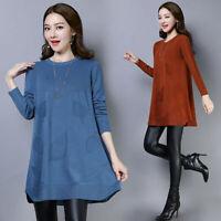 latest Autumn winter Korean fashion trend elegant loose knitting sweater dress