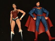 DC Essentials New 52 Superman And Wonder Woman Figures! Loose, Displayed Only
