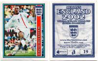 "RARE !! Sticker DAVID BECKHAM ""ENGLAND 2002"" Panini"