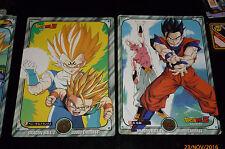 LOT DRAGON BALL Z DBZ JUMBO CARDDASS CARD NOT PRISM CARTES 7 + 25 BANDAI JAPAN