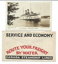 Canada Steamship Lines Photo Card and Advertising Cover.