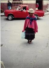 SOUTH AMERICAN WOMAN Original FOUND PHOTOGRAPH Color Snapshot VINTAGE 98 16 A