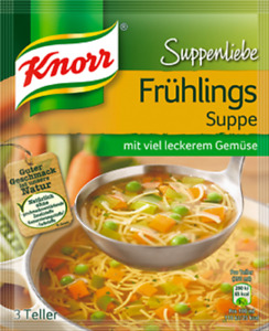 """5 x Knorr Suppenliebe """" Frühlings Suppe """" / Noddle soup New from Germany"""