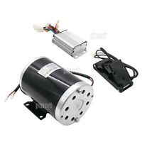 36V 1000W DC Electric Motor Kit w/ Base Speed Controller & Foot Pedal Throttle