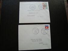 FRANCE - 2 enveloppes 1er jour 1965 (croix de guerre/blason paris) (cy77) french