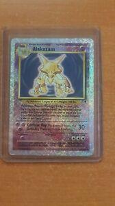 Pokemon Card - Alakazam 1/110 Reverse Holo - Legendary Collection 2002 WOTC - MP