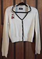Beautiful Revival By Dangerfield Fox Cardigan - Cream - Embroidery - Size 16