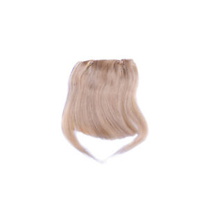"""Brand New 8"""" Fashion Bang Human Hair Clips in  Extensions Front Fringe 20g"""
