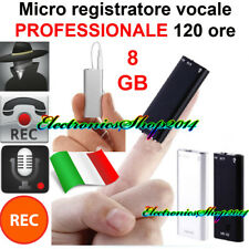 MINI REGISTRATORE AUDIO 8GB VOCALE SPY SPIA VOICE RECORDER TELEFONICO DITTAFONO