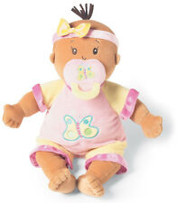Manhattan Toy Doll Baby Stella Beige Tan Cloth Girl Pink Yellow 12m+ NEW