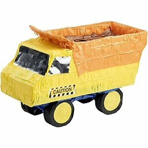 Blue Panda Small Dump Truck Pinata Kids Construction Birthday Party Supplies ...