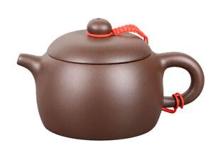 Yixing Ton Teekanne / Kaffeekanne 200ml, handgefertigt, glatt dunkel