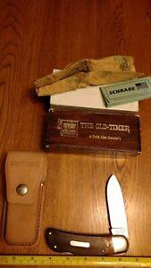 SCHRADE USA 51OT OLDTIMER CARBON STEEL BIG TIMER LOCKBACK POCKET KNIFE NOS