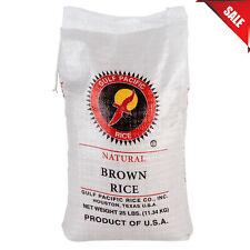 25 lb. Bulk Gulf Pacific Natural Brown Rice Bag Pantry Food Supply Long Non-GMO