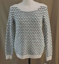 Liz Claiborne, XL, Get Graphic 2, White Multi Sweater, New with Tags