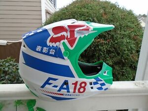 Fox Racing Adult Mens V1  Motocross Off Road Helmet multi color sz M