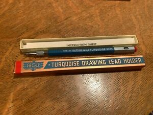 EAGLE Turquoise 3375 Drawing Lead Holder Pencil New Old Stock Box & Inst.
