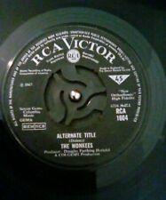"The Monkees – Alternate Title Vinyl 7"" Single UK RCA 1604 1967"